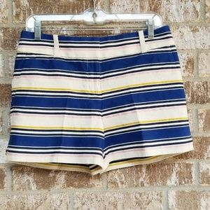 Ann Taylor Loft Multicolored Striped Shorts Size 2